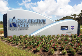 Image of Exploration Park entrance sign.