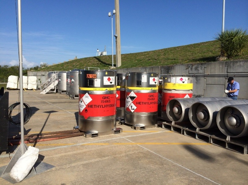 Image of propellants in containers