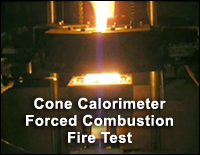 6.1 Materials Testing Laboratories - Cone Calorimeter Forced Combustion Fire Test